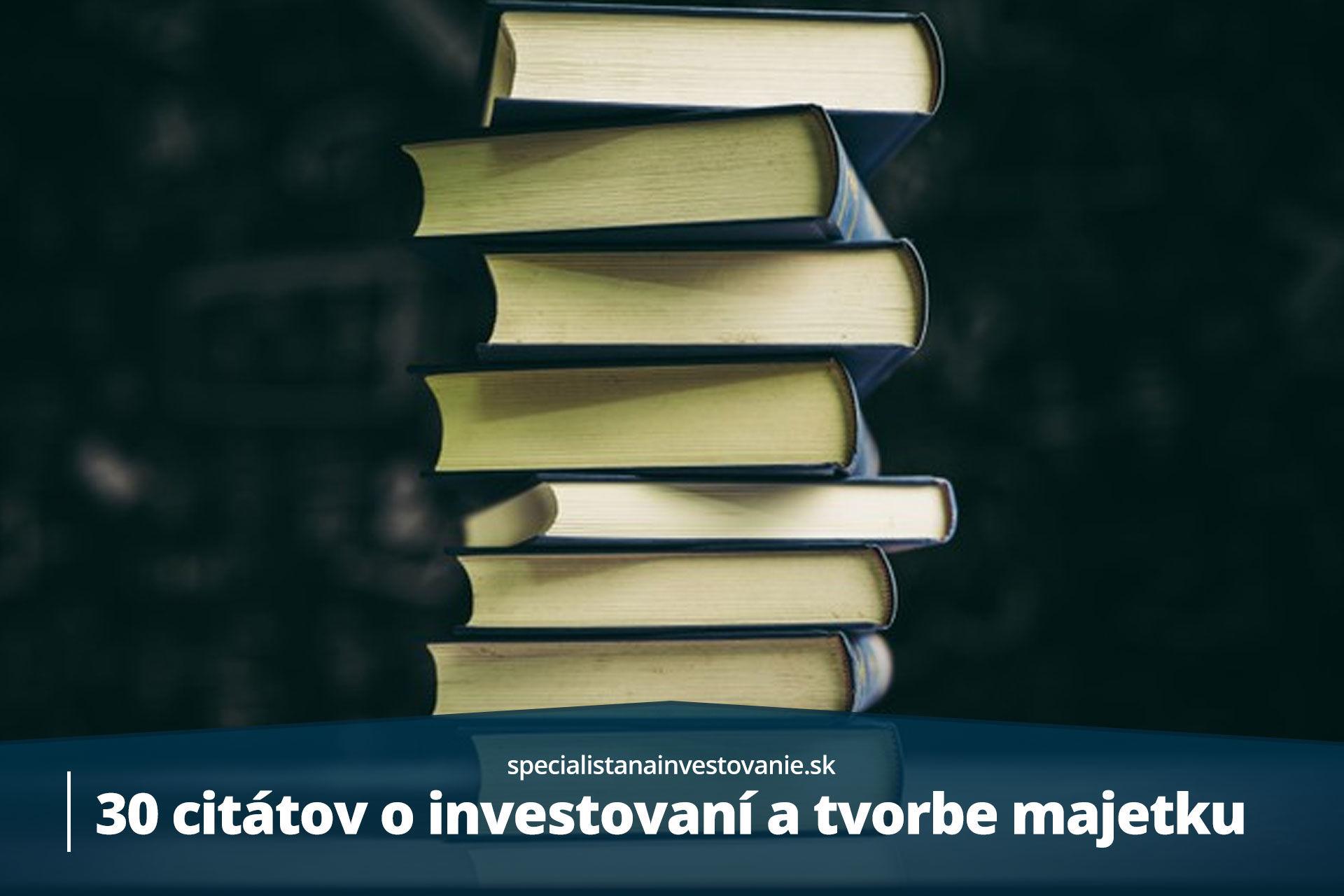 citáty o investovaní