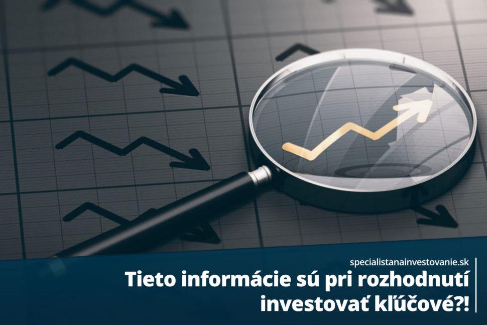 informácie pre investorov