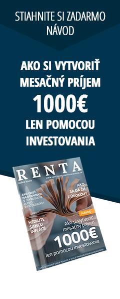 Návod ako si vytvoriť mesačný príjem 1000€ len pomocou investovania